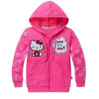 zfy3 hello kitty girl jacket 2-8 age kids Jackets girls coats 6pcs/ lot free shipping