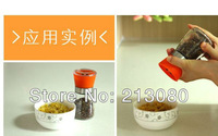 2 X Drop Shipping Manual Glass Pepper Peppercorn Salt Spice Grinder Herb Mill With SGS Certification Good Quality Free shipping