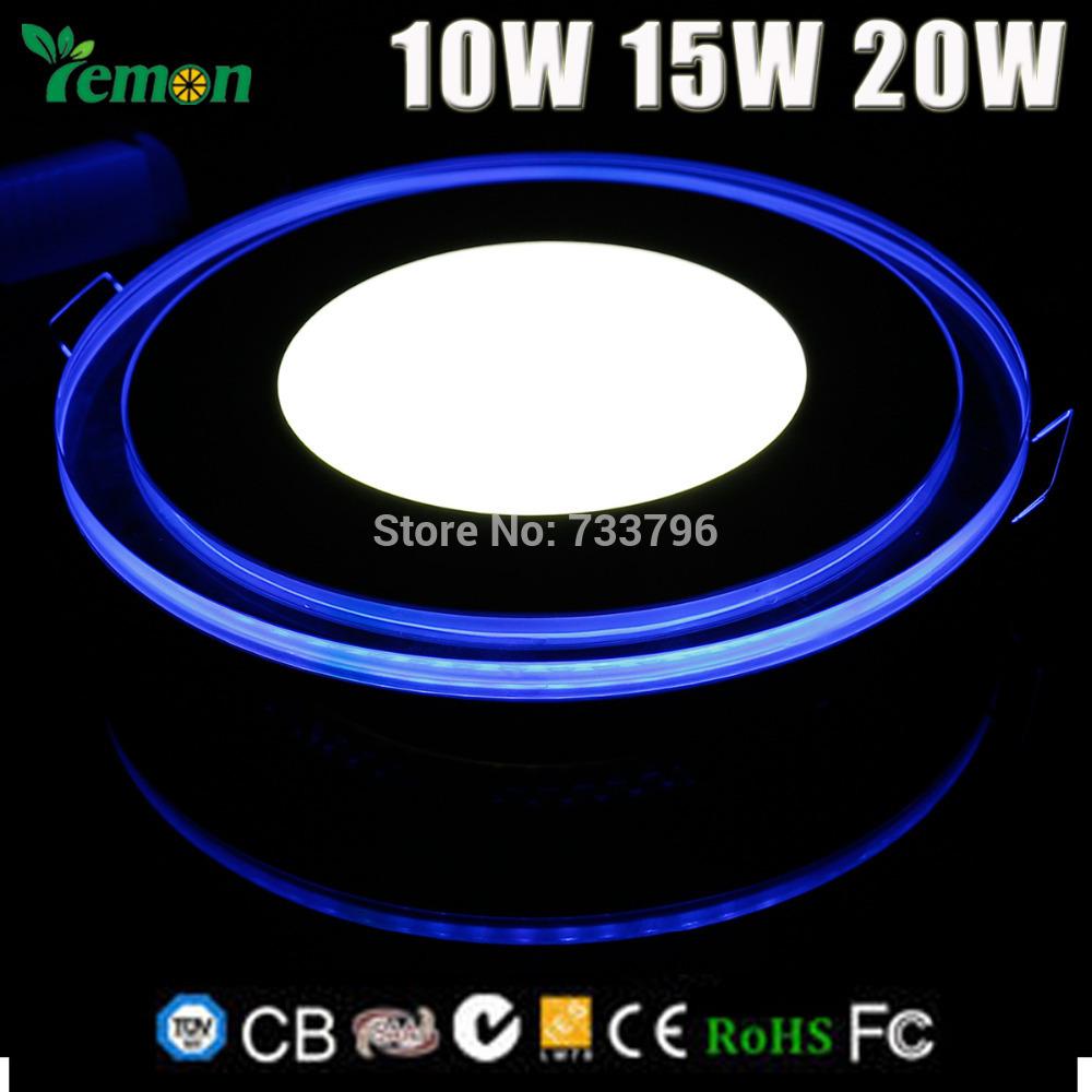 10W 15W 20W Round Acrylic LED Panel Light Indoor Light Ceiling Light Energy Saving Bright LED Recessed Panel Down Light 100-245V(China (Mainland))