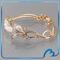 Fashion Bijoux Enamel Fox Bracelets Girl's Cute Jewelry Crystal European Style 18k Gold Plated Bracelets for Women Wholesale