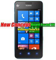 Huawei W2 WP8 Windows phone Dual core 1.4G processor Dual camera 4.3 inches WCDMA+GSM Blue Yellow Two Color .Cheapest WP8 phone