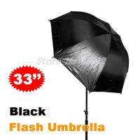 """100% New 4pcs Wholesale 33"""" 84cm Studio Black/Silver Reflector Umbrella for Photo Studio Accessories Free Shipping"""