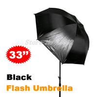 "100% New 4pcs Wholesale 33"" 84cm Studio Black/Silver Reflector Umbrella for Photo Studio Accessories Free Shipping"