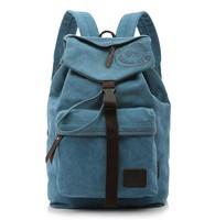 2015 Designer Fashion Korean Style Travel Unisex Canvas Knapsacks Tops Men Laptop Backpacks Women School Backpacks Free Shipping