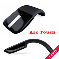 Wireless Optical Mouse 2.4GHz Arc Touch Scroll Computer Laptop PC Foldable Flat USB Adaptor Black Unique Look