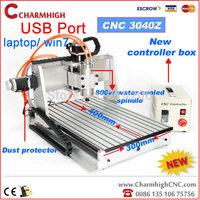 USB port CNC3040Z CNC Router CNC 3040 CNC3040 cnc engraving machine, 800w spindle motor +1.5kw VFD, HOT sale model