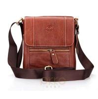 Genuine leather male men's cowhide shoulder bag small messenger bag for man
