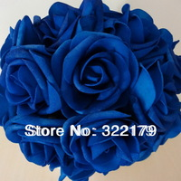 50X Royal Blue Roses Artificial Flowers DIY Bridal Wedding Bouquet  Wedding Centerpices Wholesale Lots