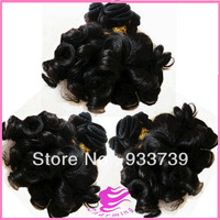 Queen hair products 3pcs Brazilian curly virgin hair weft,6A grade virgin human hair weaves,100% aunty  funmi hair free shipping