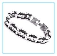 Stainless Steel Bracelet & Bangle  Men's Jewelry Strand Rope Charm Chain Wristband Men's Bracelet