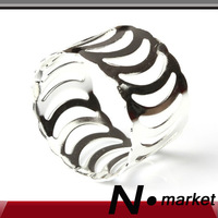 Free Shipping New Moon Round Silver Metal Napkin Ring For Wedding Party Table Decoration