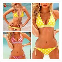 Free shipping women's fashion polka dot series bikini swimwear swimsuit,cheap swimsuit bandeau ladies bikini fashion swimwear
