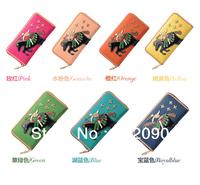 DERS new circus wallet zipper Wallet Women Wallet Purses Genuine