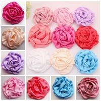 DIY Flower for baby headband Cotton Rose Puff Flowers Fabric Rosette Flower Hair accessories Hair flowers 50pcs/lot