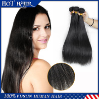 Virgin 100% peruvian  5a virgin hair straight 4 pcs a lot