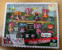 Mini Lalaloopsy Dolls box of 8 button dolls of 3 inches school of fun free shipping
