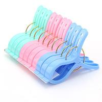 3467 Min order $10 (mix order) free shipping random color clothes clip plastic clip clothespin big plastic clip hanger 10 pcs