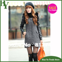 J-015 Free Shipping Korean Woolen Jacket  2014 Winter Fashion Women Slim Casual Long Coat