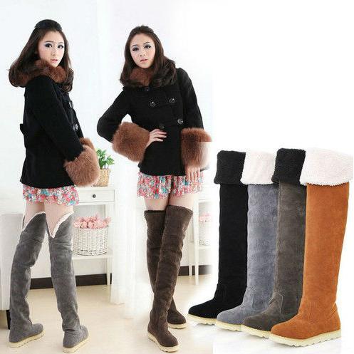 2013new Женская обувь осень-зима overknee высокой