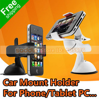 Universal Car Mount Holder , Car Bracket For Phone Tablet PC GPS Navigation ... Free Shipping