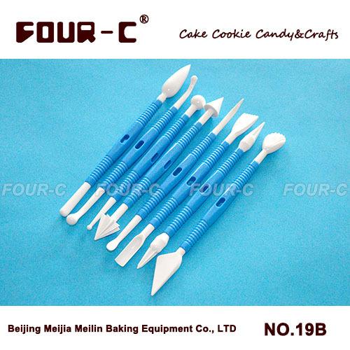 Di trasporto libero/8 pezzi fiore fondente strumento di modellazione set/sugarcraft strumenti di decorazione di una torta/plastica decorazione penna