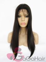 Free Shippng Ariel wig!!!  Virgin Brazilian Glueless Lace Virgin Wigs for Black Women 18'' 1b#  Silky Straight Full Lace Wigs