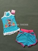 girl cute cartoon summer suit minnie clothing set