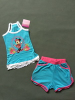 girl cute cartoon summer suit minnie clothing set