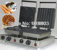 Doulbe-Head 220v Electric Churros Waffle Sick Maker Machine Baker