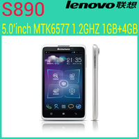 Original Lenovo S890 phone MTK6577 Dual Core 8MP RAM 1GB  ROM 4GB Android phone on sale in stock
