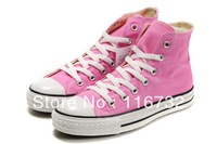 2015 new high low style classic Canvas Shoes pink colour Classic Sneakers all fashion star sports shoes