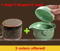 Фарфоровый чайный набор, Китай Гун фу teaset с 6 двойной стенки чашки чая, чайные наборы Симпатичные керамические кунг-фу