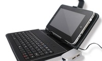 """Universal 7"""" 8"""" 9"""" 9.7"""" 10.1nch Micro-USB keyboard Leather Case for Android Tablet PC English or russian keyboard for choose"""