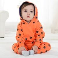 Street fashion 2013 autumn summer carters baby boy/girl long sleeve hooded 2 pcs clothing set,baby star pattern sweater set