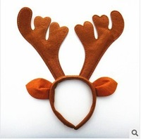 2013 New 5 kinds of style Christmas decoration Brown party supplies Reindeer Antler Santa Hat Christmas hat hoop free shipping