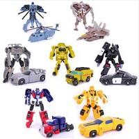 Christmas Gift Optimus Bumblebee Ratchet Barricade Blackout Sideswipe Starscream Boys' Robot Toys Free shipping