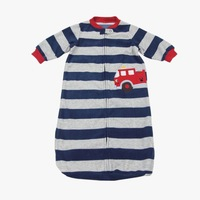 Free shipping Nave Blue Stripe Baby sleeping bag for winter models with carton embroidery for 0-9 month baby