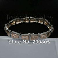 Vintage Solid 14Kt Two Tone Gold Natural Diamond Bracelet NA0018