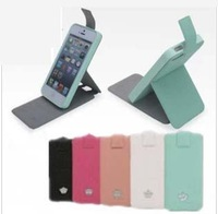 10pcs/lot High Quality Up Down Flip Leather Case For iPhone 5 5S Stand Function Brand Design Cover Phone Bag Mint Free Shipping
