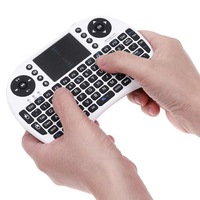 Hot sale 5pcs/lots 2.4G Wireless Mini Keyboard with Touchpad +Multi-media key for Android Mini PC set Top box Free Shipping