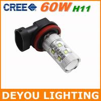 Genuine Free shipping CREE XBD 60W H11 LED Fog Light  12V 24V car DRL light lamp bulb car lighting  1year warranty