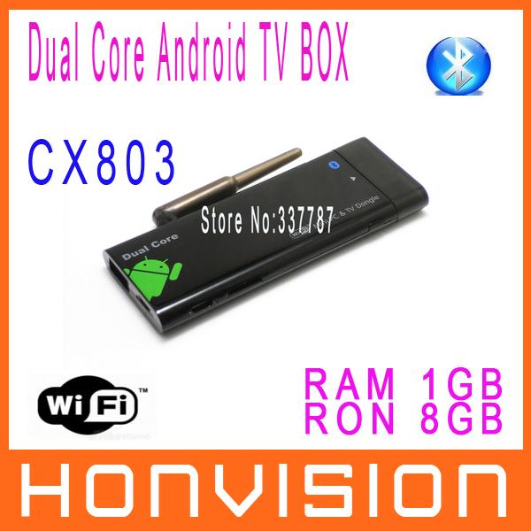 New Dual Core CX803 mini PC Android 4.12 TV Stick BOX RK3066 With Bluetooth RAM 1GB ROM 8GB XBMC WiFi Antenna(China (Mainland))