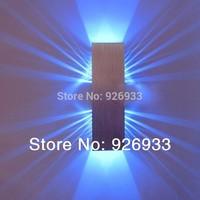 85v ~ 265v 2*1W stage light rectangle led wall lamp living room sconce hallway bedroom night light led zz15