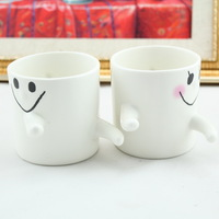 Creative Couple cups, hug mug, ceramic mug, gift mug, reusable cups,  two cups