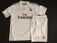 Best quality 2014/15 Real Madrid away pink football shirt & shorts set,Real madrid soccer kit 2015