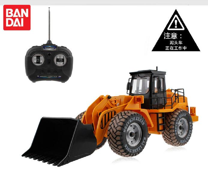Large forkfuls remote control engineering car wireless remote control bulldozer toy car boy birthday gift(China (Mainland))