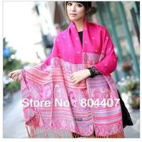 Hot-selling long national trend jacquard women's cape scarf , scarf, echarpe,cachecol,bufanda,lenco,xale,pashmina,chale,chapeu