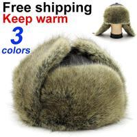 Men winter thermal fur hat quinquagenarian thickening fur hat  free shipping