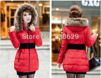 Fashion New 2014 women's Parkas fur collar coat women fur Parkas plus size XXXL XXXXL 4XL 2014