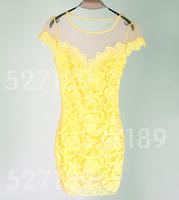 2014 summer dress New Women spring Vintage Digital party Vestidos Femininos bandage Casual Dress vestido de festa lace
